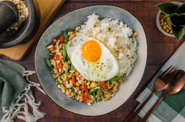 Pad Kra Pao with Snake Beans and Thai Basil